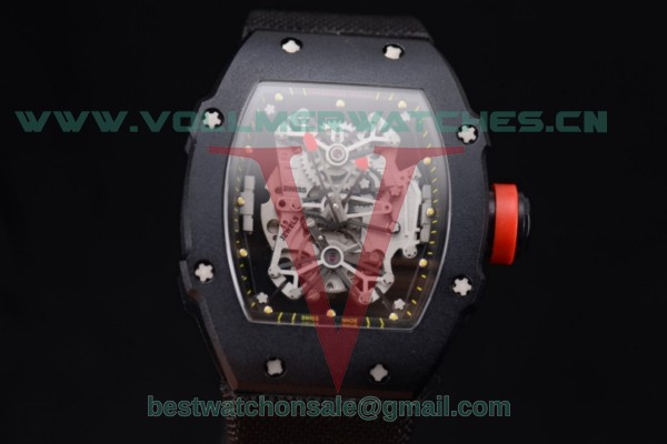 Richard Mille RM 27-01 Tourbillon Rafael Nadal Miyota 9015 Auto Skeleton Dial With PVD Case