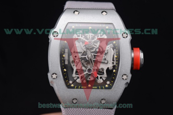 Richard Mille RM 27-01 Tourbillon Rafael Nadal Miyota 9015 Auto Skeleton Dial With Steel Case