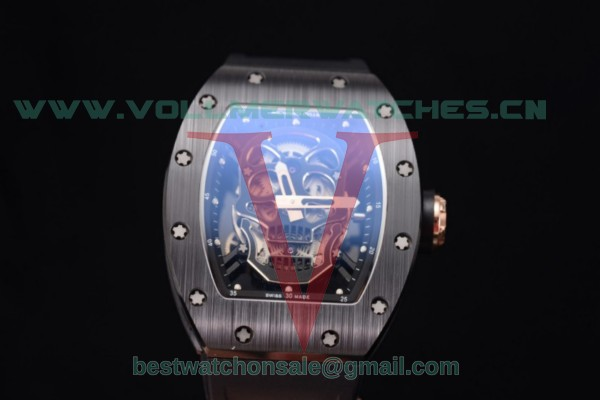 Richard Mille RM 52-01 Miyota 9015 Auto Skull Dial With PVD Case