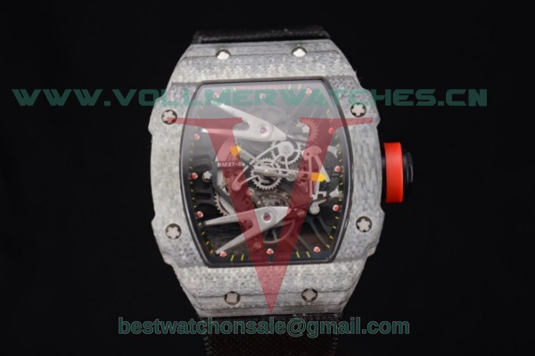 Richard Mille RM027-2 Miyota 9015 Auto Skeleton Dial With Carbon Fiber Case