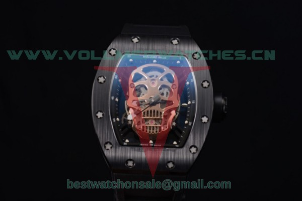 Richard Mille RM052 Miyota 9015 Auto Skull Dial With PVD Case