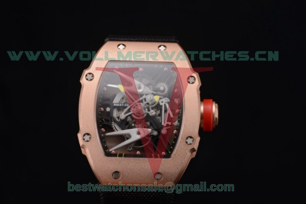 Richard Mille RM027-2 Miyota 9015 Auto Skeleton Dial With Rose Gold Case