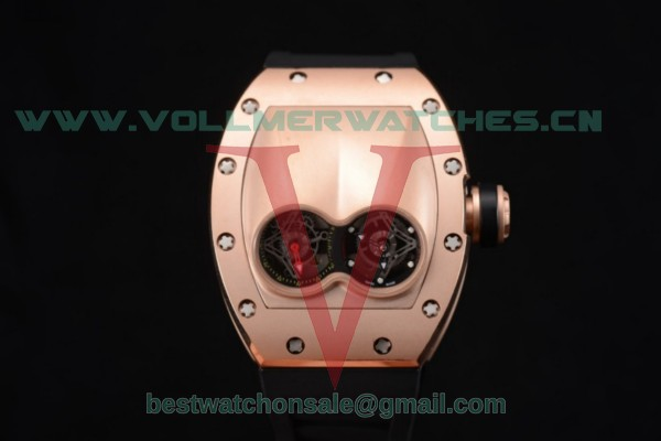 Richard Mille RM053 Asia Auto Skeleton Dial With Rose Gold Case