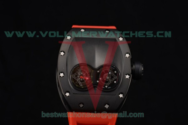 Richard Mille RM053 Asia Auto Skeleton Dial With PVD Case Red Rubber Strap