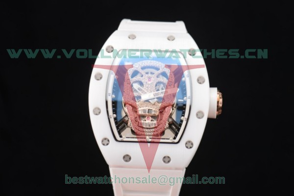 Richard Mille RM052 Miyota 9015 Auto Skull Dial With Rose Gold Case