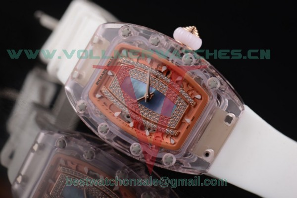 Richard Mille RM 07-02 Miyota 9015 Auto Blue MOP Dial With Pink Sapphire Case