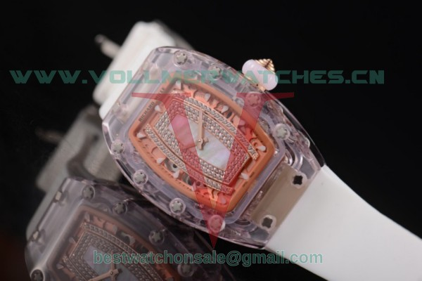 Richard Mille RM 07-02 Miyota 9015 Auto Light Purple/Green MOP Dial With Pink Sapphire Case