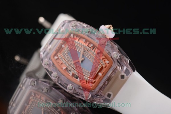 Richard Mille RM 07-02 Miyota 9015 Auto Light Blue MOP Dial With Pink Sapphire Case