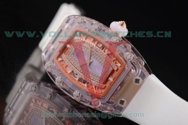 Richard Mille RM 07-02 Miyota 9015 Auto Light Purple MOP Dial With Pink Sapphire Case