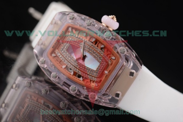 Richard Mille RM 07-02 Miyota 9015 Auto Purple MOP Dial With Pink Sapphire Case