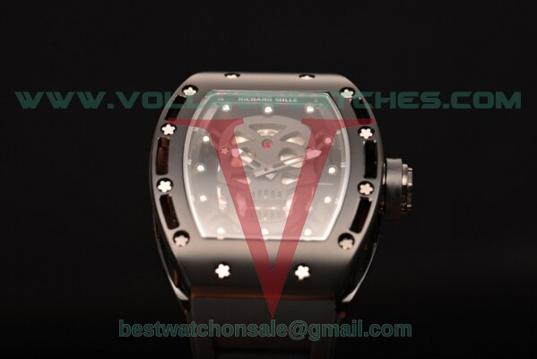 Richard Mille RM 52-01 Miyota Quartz Skull/Skeleton Dial with PVD Case