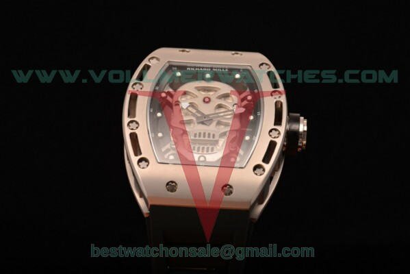 Richard Mille RM 52-01 Miyota Quartz Skull/Skeleton Dial with Steel Case