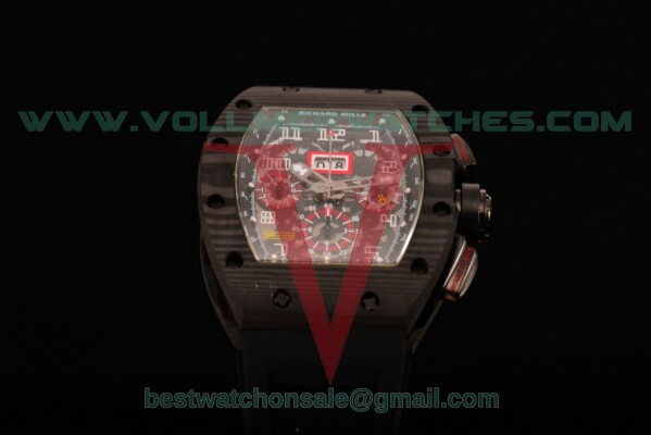 Richard Mille RM 011 Chrono 7750 Auto Skeleton Dial with Carbon Fiber Case RM 011
