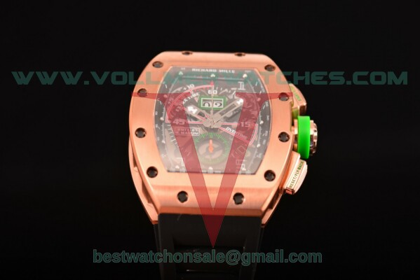 Richard Mille RM11-01 Chrono 7750 Auto Skeleton Dial with Rose Gold Case RM11-01