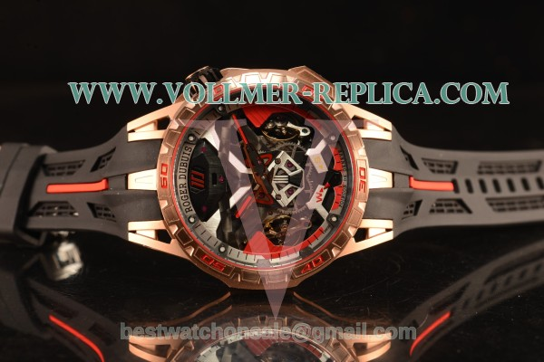 Roger Dubuis Excalibur One-Off Double Tourbillon Black PVD Case Perfect Clone With Miyota 6T51