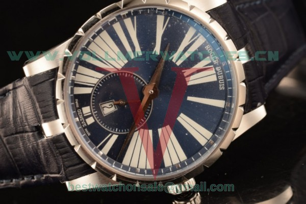 Roger Dubuis Excalibur Chronograph RD830 Auto Blue Dial with Steel DBEX0535