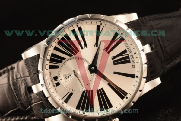 Roger Dubuis Excalibur Chronograph RD830 Auto Silver Dial with Steel DBEX0460