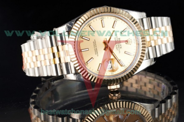 Rolex Datejust 2836 Auto Yellow Gold Dial with K Gold Case 116333 jgs (BP)
