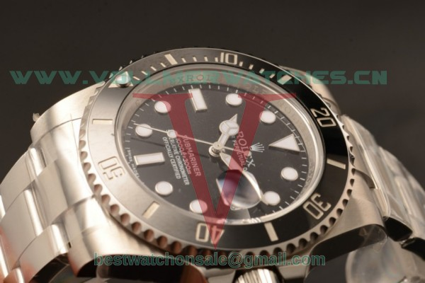 Rolex Submariner 2836 Auto Black Dial with Steel Case 116610LN