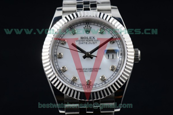 Rolex Datejust II 2836 Auto White Dial with Steel Case 116334 whtdj (BP)