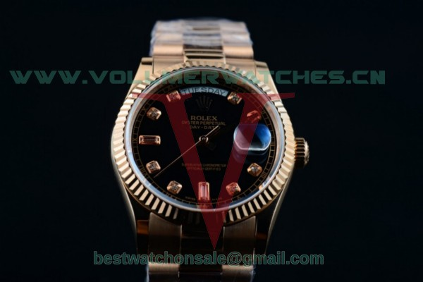 Rolex Day-Date 2836 Auto Dark Brown Dial with Rose Gold Case 218235 blkdp (BP)