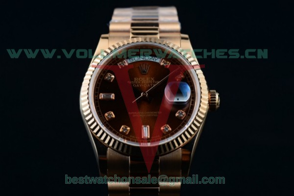 Rolex Day-Date 2836 Auto Brown Dial with 18K Rose Gold Case 218235 brwdp (BP)