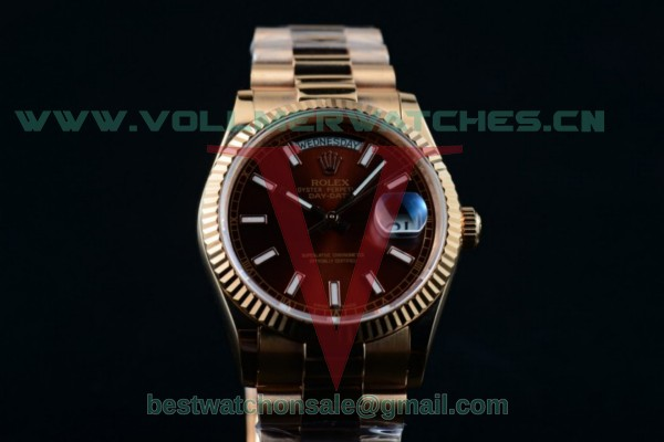 Rolex Day-Date 2836 Auto Brown Dial with Rose Gold Case 218235 brwsp (BP)