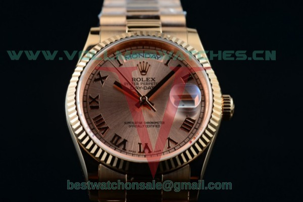 Rolex Day-Date 2836 Auto Rose Gold Dial with Rose Gold Case 218235 brwrp (BP)