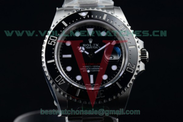 1:1 Rolex Sea-Dweller ETA 2836/Super ETA 2836/Rolex 3235 Auto Black Dial with Steel Case 126600 (BP)