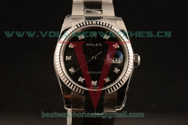 1:1 Rolex Datejust 3135 Auto Brown Dial with Steel Case 116234 blkdo (MARK F)