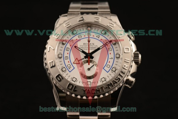 1:1 Rolex Yacht-Master II Chrono 7750 Auto White Dial with Steel Case 116689 (JF)
