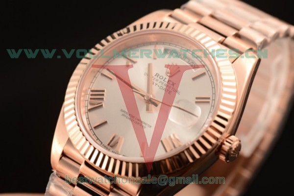 Rolex Day-Date 3235 Auto Silver Dial with Rose Gold Case 218235 silr (CF)