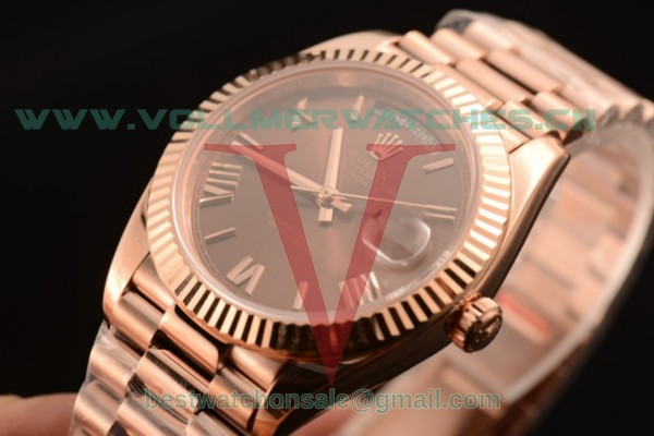 Rolex Day-Date 3235 Auto Brown Dial with Rose Gold Case 218235 bror (CF)