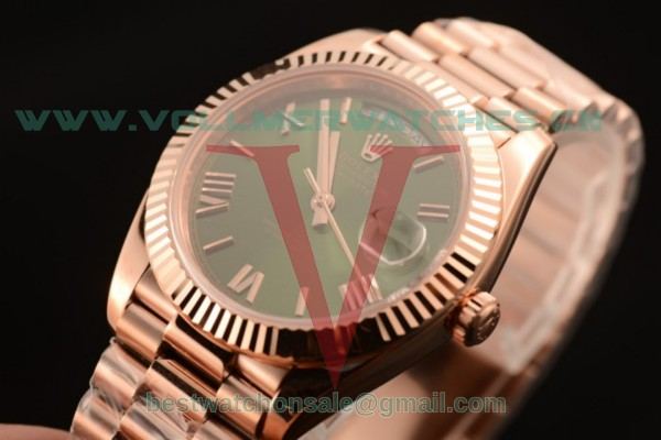 Rolex Day-Date 3235 Auto Green Dial with Rose Gold Case 218235 greer (CF)