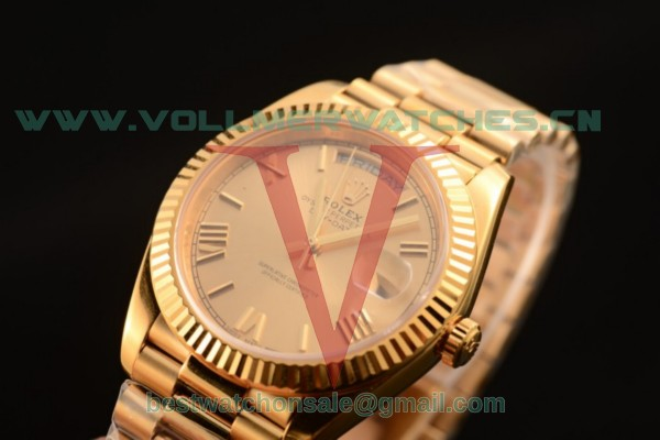 Rolex Day-Date 3235 Auto Yellow Gold Dial with Yellow Gold Case 118238 cr (CF)