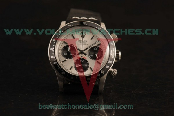 Rolex Daytona Vintage Edition Chrono Miyota OS20 Quartz Silver Dial with Steel Case 6364 bl
