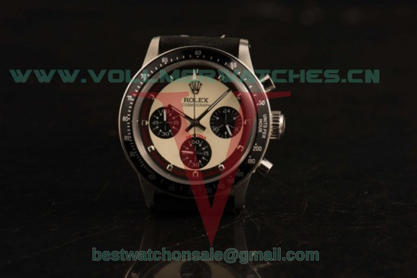Rolex Daytona Vintage Edition Chrono Miyota OS20 Quartz White Dial with Steel Case 3646 bl