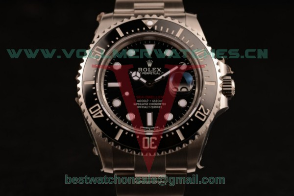 1:1 Rolex Sea-Dweller 2836 Auto Black Dial with Steel Case 126000 (AAAF)
