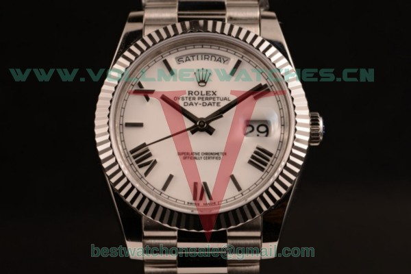 Rolex Day-Date 2836 Auto White Dial with Steel Case 118239 pwr (BP)