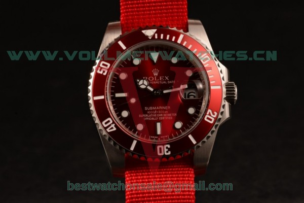 Rolex Submariner Asia Auto Red Dial with Steel Case 116610LNN
