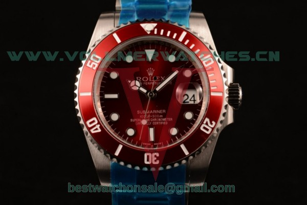 Rolex Submariner Asia Auto Red Dial with Steel Case 116610LN