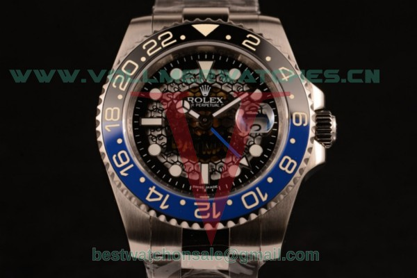 Rolex GMT-Master II Batman Skeleton 2836 Auto Black Dial with Steel Case 116710BLNR
