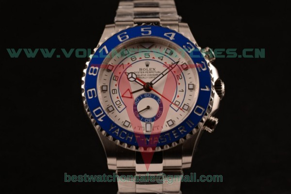 Rolex Yacht-Master II 7750 Auto White Dial with Steel Case 116680