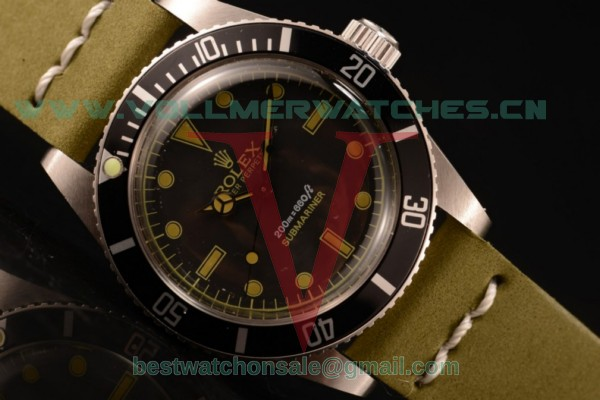Rolex Submariner Vintage Asia 2813 Automatic Black Dial with Steel Case 6538L