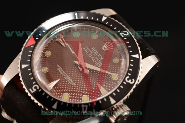 Rolex Milgauss Vintage Asia 2813 Automatic Brown Dial with Steel Case 1016 brw