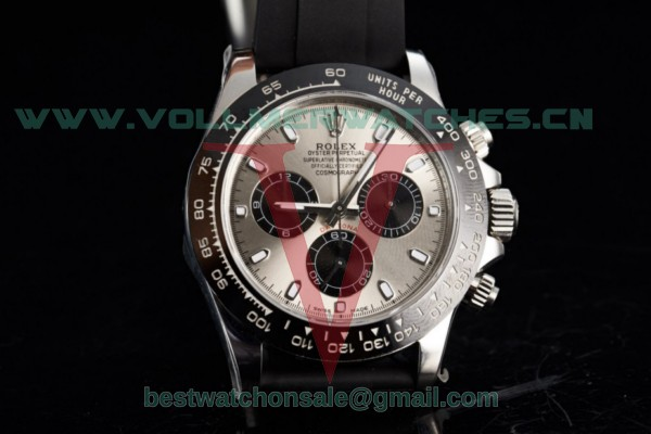 1:1 Rolex Cosmograph Daytona 4130 Auto Grey Dial with Steel Case m116519ln