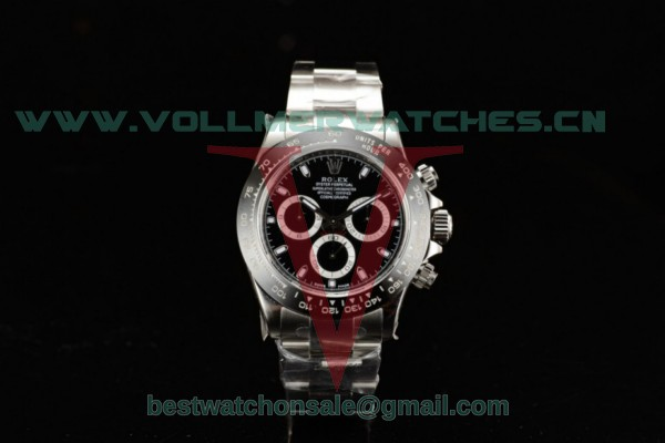 1:1 Rolex Cosmograph Daytona 4130 Auto Black Dial with Steel Case 116500LN (AR)