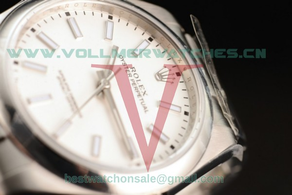 1:1 Rolex Oyster Perpetual Air King Clone Rolex 3135 Auto White Dial With Steel Case 114300 (JF)