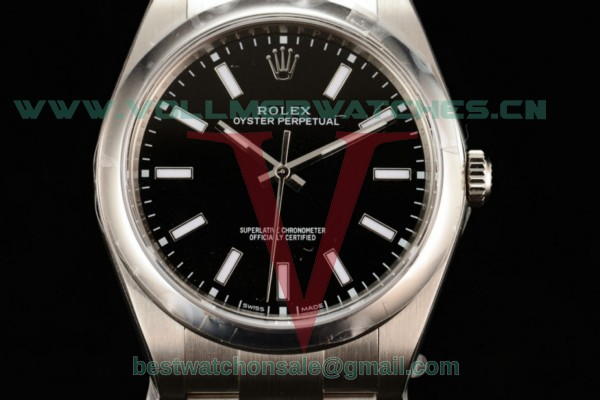 Rolex Oyster Perpetual Air King Clone Rolex 3135 Auto Black Dial With Steel Case 11600 (JF)