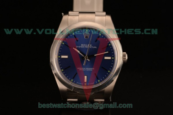 1:1 Rolex Oyster Perpetual Air King Clone Rolex 3135 Auto Blue Dial With Rose Gold Case 114300-0003 (AR)